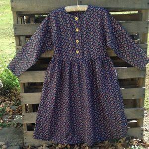 Vintage Boho Paisley dress. Hand made.